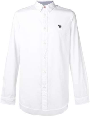 Paul Smith zebra patch button-down shirt