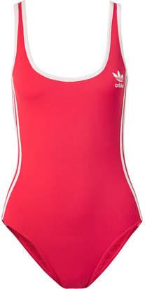 adidas Striped Stretch Bodysuit - Red