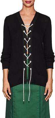 Derek Lam Women's Lace-Up Silk-Cotton Top