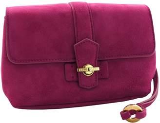 Loro Piana Pink Suede Clutch Bag