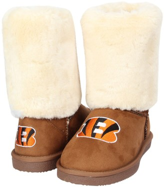 Unbranded Women's Cuce Tan Cincinnati Bengals Fan Boot