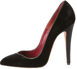 Brian Atwood Velvet Pointed-Toe Pumps $130 thestylecure.com