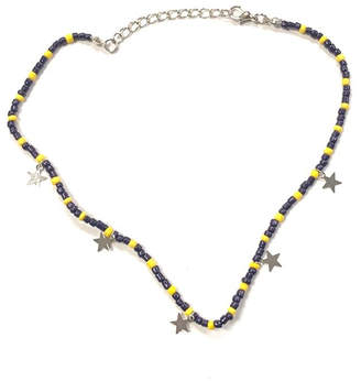 Lets Accessorize Colorful Beaded-Star Choker