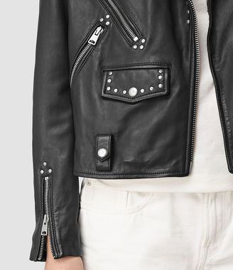 Vettese Studded Leather Biker Jacket $620 thestylecure.com