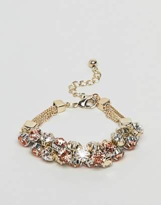 Coast Crystal Cluster Chain Bracelet