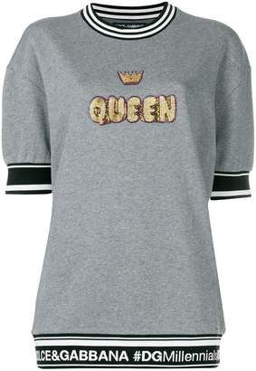 Dolce & Gabbana embellished Queen jumper