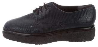 Robert Clergerie Embossed Leather Oxfords