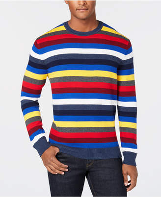 Club Room Men's Feeder Multi-Stripe Sweater, Created for Macy's