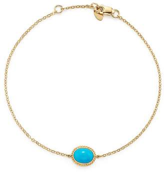 Bloomingdale's Oval Bezel Set Turquoise Chain Bracelet in 14K Yellow Gold - 100% Exclusive