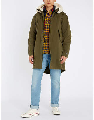Tommy Hilfiger Faux-shearling hooded cotton parka jacket