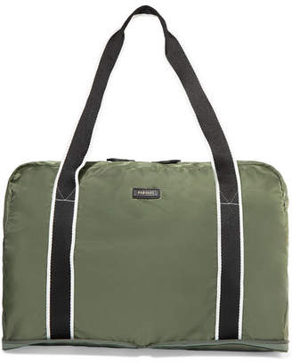 Paravel Fold-up Canvas-trimmed Shell Weekend Bag - Army green