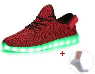 NewYork Offer Shop Unisex High Top USB Charging 7 Colors LED Shoes Flashing Sneakers