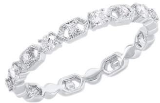 Ron Hami 14K White Gold Diamond Chain Link Ring - 0.21 ctw - Size 7