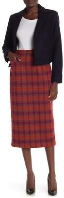 Anna Sui Brushed Tartan Skirt