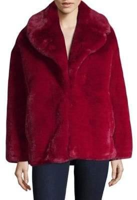 Diane von Furstenberg Long-Sleeve Faux Fur Jacket