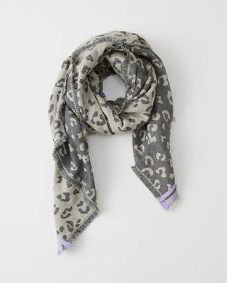Abercrombie & Fitch Midweight Jacquard Scarf