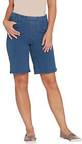Denim & Co. Comfy Knit Smooth Waist Pull-On5-Pocket Shorts