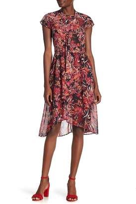 Amelia Floral Tie Neck Dress