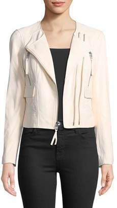 Joie Vivianette Cropped Leather Moto Jacket