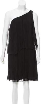 Chloé Pleated One-Shoulder Dress