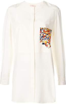 Tory Burch contrast patch pocket shirt