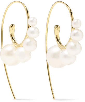 Ippolita Nova 18-karat Gold Pearl Earrings