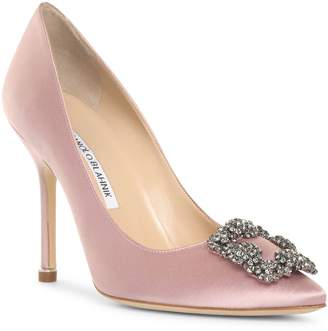 cb8f3b79bbe Pink Satin Pumps - ShopStyle