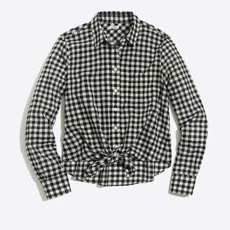 J.Crew Printed tie-waist shirt