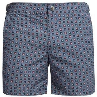 Alexander McQueen Floral Print Swim Shorts - Mens - Blue