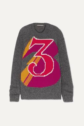 Stella McCartney The Beatles Intarsia Alpaca-blend Sweater - Gray