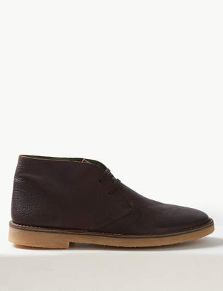 9514a3f4197 M&S CollectionMarks and Spencer Leather Lace-up Desert Boots