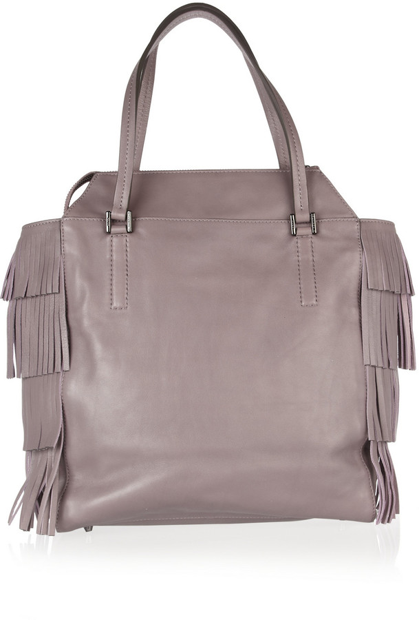 Anya Hindmarch Newman Palma fringed leather tote