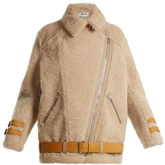 Acne Studios Velocite Shearling Jacket - Womens - Cream