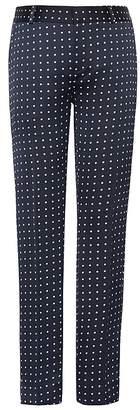 Banana Republic Petite Avery Straight-Fit Polka Dot Ankle Pant