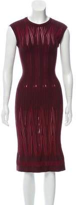 Alaia Rib Knit Contrast Dress