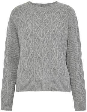 Chinti and Parker Cable-Knit Merino Wool And Cashmere-Blend Sweater