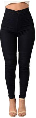 Jueshanzj Womens Pants High Waist Stretch Skinny Jeans Pencil Pants Candy Color X-Large