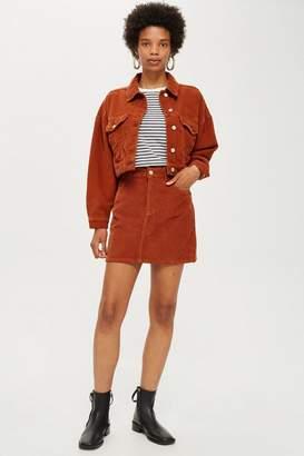 Topshop Rust Corduroy Skirt