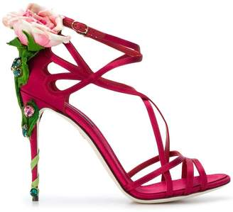 Dolce & Gabbana Keira rose jewelled sandals