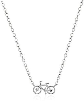 Sterling Mini-Bicycle Pendant Necklace