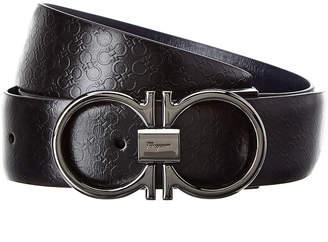 Salvatore Ferragamo Reversible & Adjustable Gancini Leather Belt