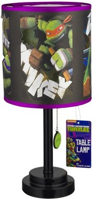 Nickelodeon Teenage Mutant Ninja Turtles Table Lamp, 1.0 CT