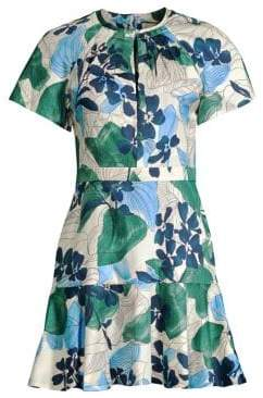 Alexis Reede Floral-Print Twist A-Line Dress