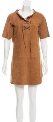 Calypso Suede Mini Dress