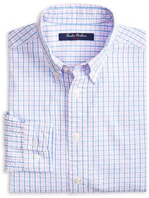 Brooks Brothers Boys' Seersucker Gingham Sport Shirt - Little Kid, Big Kid