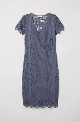 H&M MAMA Lace Nursing Dress - Blue
