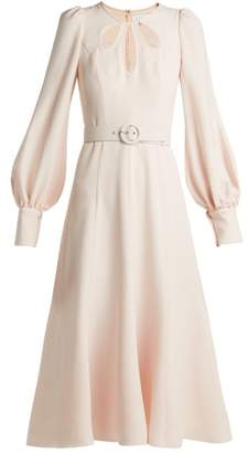 Andrew Gn Cut Out Crepe Midi Dress - Womens - Light Pink