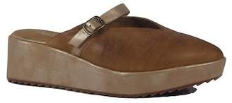 Antelope Leather Platform Mule
