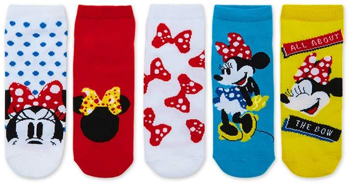 Disney Minnie Mouse Socks - 5 Pack