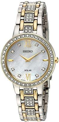 Seiko Women's 'Ladies Crystal Dress' Quartz Stainless Steel Casual Watch